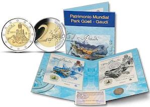 """2-Euro-Gedenkmuenze """"Antoni Gaudi - Park Gueell"""""""