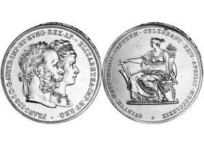 Gulden zur Silberhochzeit von Franz Joseph I.