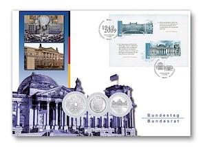 """Numisbrief: """"Deutscher Bundestag und Bundesrat"""""""