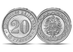 20 Pfennigmünze aus dem Jahr 1888