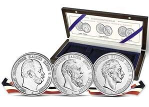 """2-Mark-Silbersatz """"125 Jahre Drei-Kaiser-Jahr"""""""