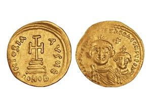 """Gold-Solidus """"Kaiser Heraclius"""""""