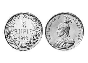 1/4 Rupie Dt.-Ostafrika Kais. Wilhelm II