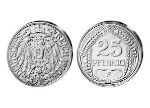 25 Pfennig Kaiserreich 1909-1912