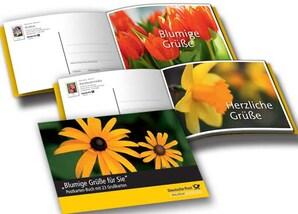 """Postkartenbuch: """"Blumige Grüße für Sie"""""""