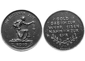 """Medaille """"Gold für Eisen"""" im Etui"""