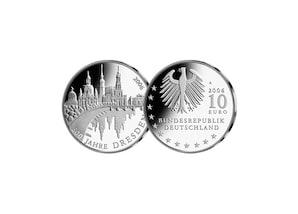 10-Euro-Münze: 800 Jahre Dresden; 2006 (Stempelglanz)