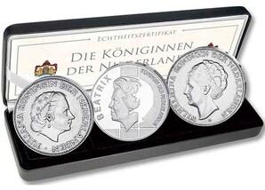 """3er-Münzensatz: """"Die drei Königinnen der Niederlande"""""""