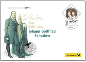 """Numisbrief: """"250. Geburtstag Johann Gottfried Schadow"""""""