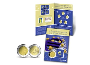 """Gedenkblatt: """"10 Jahre Wirtschafts- und Währungsunion"""""""