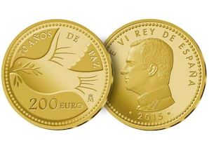 """Spanien, 200 Euro Gold """"70 Jahre Frieden in Europa"""""""