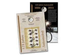 """Numisblatt: """"125 Jahre Automobil"""""""