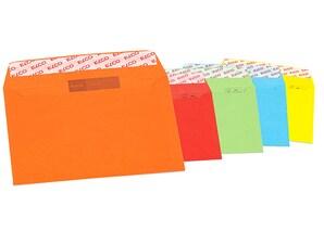 Elco Briefumschläge Color, Format: DIN C6, ohne Fenster, 5 x 4 Stück