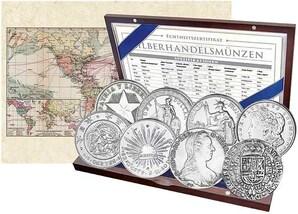 Set 8 Silbermünzen Handelsnationen