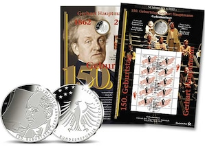 "Numisblatt: ""150 Jahre Gerhart Hauptmann"""