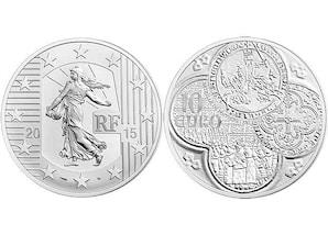 Franc à cheval 2015 - 10-Euro-Silbermünze