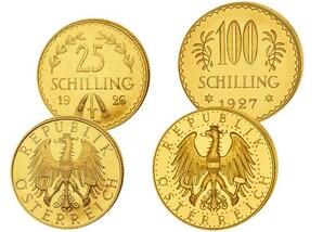 Set Österreich Schilling Gold (1926-34)
