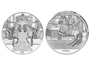 """Österreich 20 Euro """"450 Jahre Spanische Hofreitschule"""""""