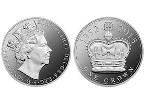 """5-Pfund-Gedenkmünze """"Königin Elisabeth II."""""""