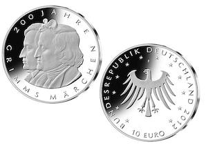 10 Euro 200 Jahre Grimms Märchen; 2012 (Stempelglanz)