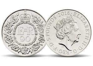"Gedenkmünze - 5 Pfund ""90. Geburtstag Queen Elizabeth II."""