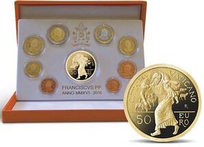 """Kursmünzensatz mit 50-Euro-Goldmünze """"Heiliges Jahr der Barmherzigkeit"""""""