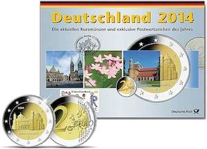 Kursmünzen der Prägestätte Hamburg (J) 2014