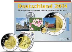 Kursmünzen einer beliebigen Prägestätte 2014