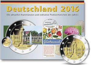 Kursmünzen der Prägestätte Hamburg (J) 2016