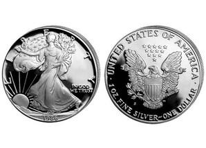 """1 Dollar """"American Silver Eagle"""" 1986"""