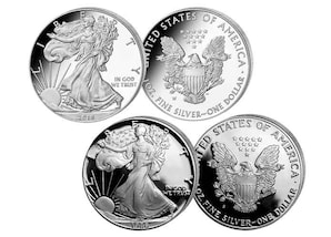 """2er-Set """"30 Jahre American Silver Eagle"""""""