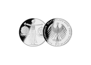 """10 DM Münze: """"Weltausstellung EXPO 2000 Hannover"""", (Stempelglanz)"""