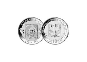 10 Euro 175. Geburtstag Wilhelm Busch; 2007 (Stempelglanz)