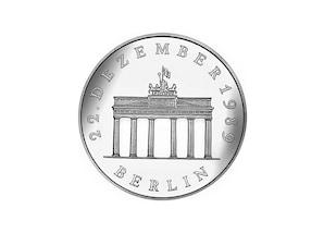 """DDR Münze: 20 Mark """"Öffnung des Brandenburger Tores"""", 1990  (Vorzüglich/Stempelglanz)"""