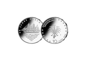 10 Euro 50 Jahre Gorch Fock; 2008 (Spiegelglanz)