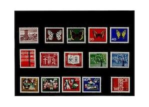 Bund, Briefmarken-Jahrgang 1962