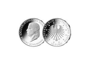 10-Euro 200. Geburtstag Robert Schumann; 2010 (Spiegelglanz)