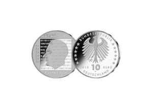 10-Euro 100. Geburtstag Konrad Zuse; 2010 (Spiegelglanz)