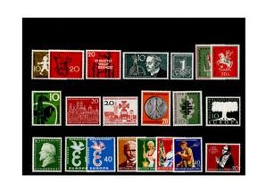 Bund, Briefmarken-Jahrgang 1958