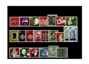 Bund, Briefmarken-Jahrgang 1956