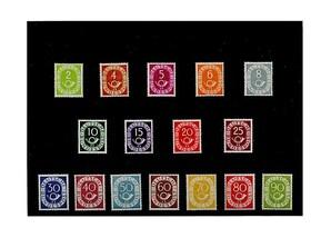 Bund, Briefmarken-Jahrgang 1951