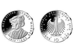 """10 Euro """"200. Geburtstag Richard Wagner"""" (Spiegelglanz)"""