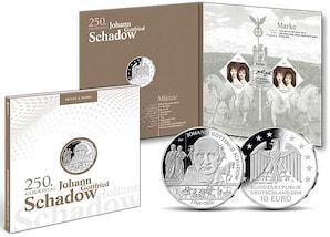 """Numisfolder Münze & Marke: """"250. Geburtstag Johann Gottfried Schadow"""""""