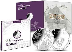"""Numisfolder Münze & Marke: """"600 Jahre Konstanzer Konzil"""""""
