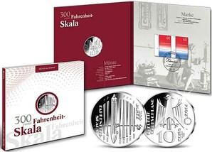 "Numisfolder Münze & Marke: ""300 Jahre Fahrenheit-Skala"""