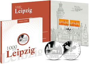 "Numisfolder Münze & Marke: ""1000 Jahre Leipzig"""