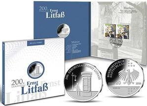 """Numisfolder Münze & Marke: """"200. Geburtstag Ernst Litfaß"""""""