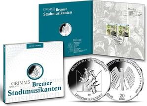 "Numisfolder Münze & Marke: ""Bremer Stadtmusikanten"""