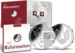 """Numisfolder Münze & Marke: """"500 Jahre Reformation"""""""
