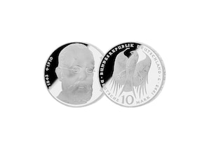 """10 DM Münze: """"150. Geburtstag von Robert Koch"""", 1994 (Spiegelglanz)"""